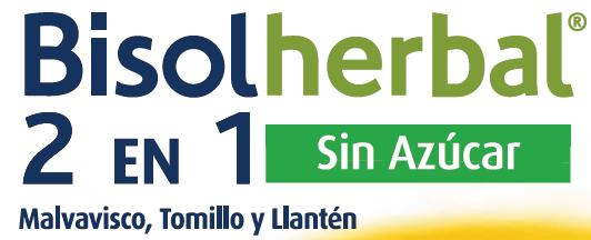 Bisolherbal 2 en 1 Malvavisco, Tonillo y Llantén sin azúcar (sobres monodosis)