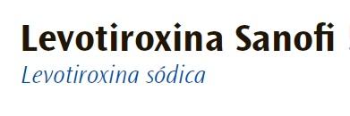 Levotiroxina Sanofi